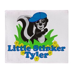 Little Stinker Tyler Throw Blanket