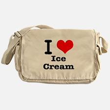 I Heart (Love) Ice Cream Messenger Bag