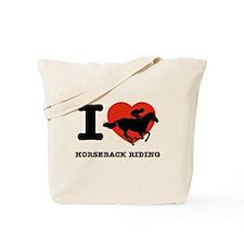 I love Horseback Riding Tote Bag