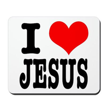I Heart (Love) Jesus Mousepad
