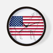 USA Sheep Wall Clock
