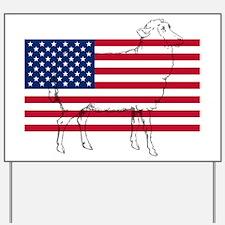 USA Sheep Yard Sign