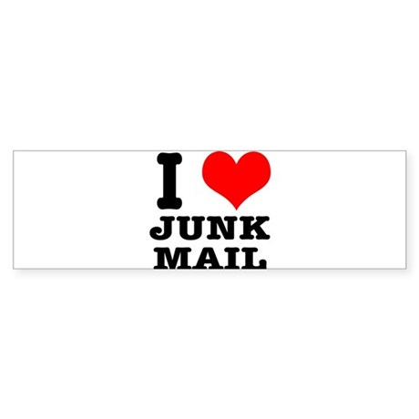 I Heart (Love) Junk Mail Sticker (Bumper)