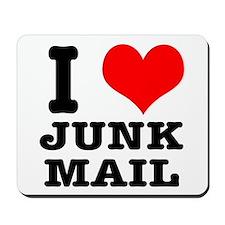I Heart (Love) Junk Mail Mousepad