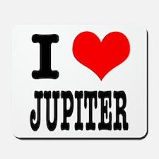 I Heart (Love) Jupiter Mousepad