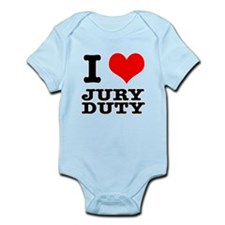 I Heart (Love) Jury Duty Infant Bodysuit