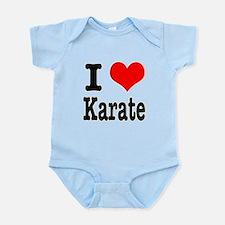 I Heart (Love) Karate Infant Bodysuit