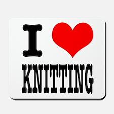 I Heart (Love) Knitting Mousepad