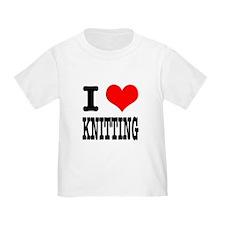 I Heart (Love) Knitting T