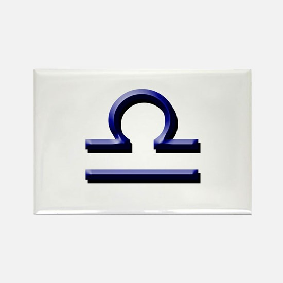 Libra Blue Rectangle Magnet