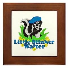 Little Stinker Walter Framed Tile
