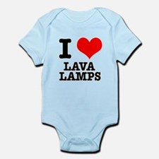I Heart (Love) Lava Lamps Infant Bodysuit