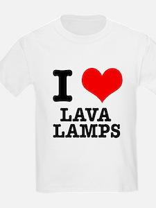 I Heart (Love) Lava Lamps T-Shirt