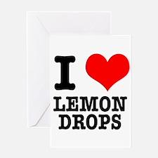 I Heart (Love) Lemon Drops Greeting Card