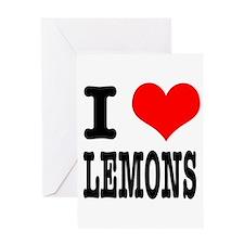 I Heart (Love) Lemons Greeting Card