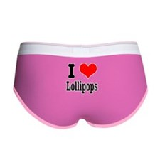 I Heart (Love) Lollipops Women's Boy Brief