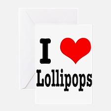 I Heart (Love) Lollipops Greeting Card