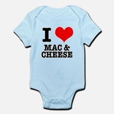 I Heart (Love) Mac & Cheese Infant Bodysuit