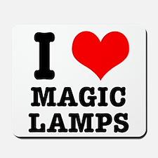 I Heart (Love) Magic Lamps Mousepad