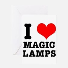 I Heart (Love) Magic Lamps Greeting Card