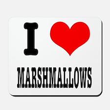 I Heart (Love) Marshmallows Mousepad