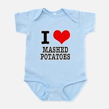 I Heart (Love) Mashed Potatoe Infant Bodysuit