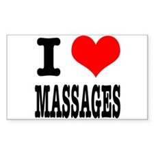 I Heart (Love) Massages Decal