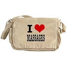 I Heart (Love) Massages Messenger Bag