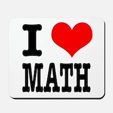 I Heart (Love) Math Mousepad