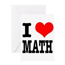 I Heart (Love) Math Greeting Card