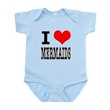 I Heart (Love) Mermaids Infant Bodysuit