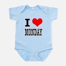 I Heart (Love) Monday Infant Bodysuit