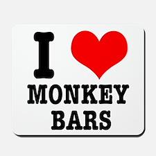 I Heart (Love) Monkey Bars Mousepad