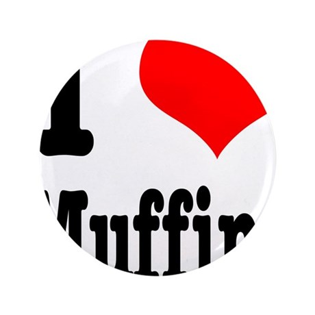 """I Heart (Love) Muffins 3.5"""" Button (100 pack)"""
