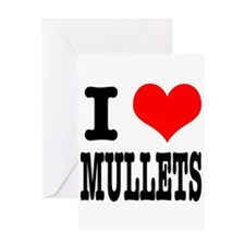I Heart (Love) Mullets Greeting Card