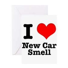I Heart (Love) New Car Smell Greeting Card