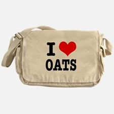 I Heart (Love) Oats Messenger Bag