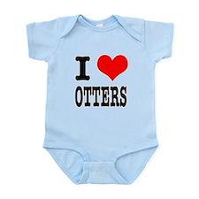 I Heart (Love) Otters Infant Bodysuit