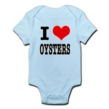 I Heart (Love) Oysters Infant Bodysuit