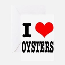 I Heart (Love) Oysters Greeting Card