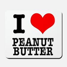 I Heart (Love) Peanut Butter Mousepad