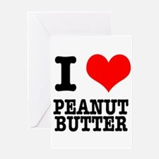I Heart (Love) Peanut Butter Greeting Card
