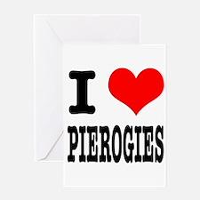 I Heart (Love) Pierogies Greeting Card