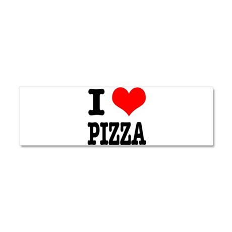 I Heart (Love) Pizza Car Magnet 10 x 3
