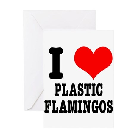 I Heart (Love) Plastic Flamin Greeting Card