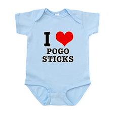I Heart (Love) Pogo Sticks Infant Bodysuit