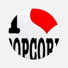 "I Heart (Love) Popcorn 3.5"" Button"