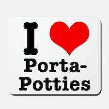 I Heart (Love) Porta Potties Mousepad