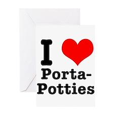 I Heart (Love) Porta Potties Greeting Card