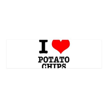 I Heart (Love) Potato Chips 42x14 Wall Peel
